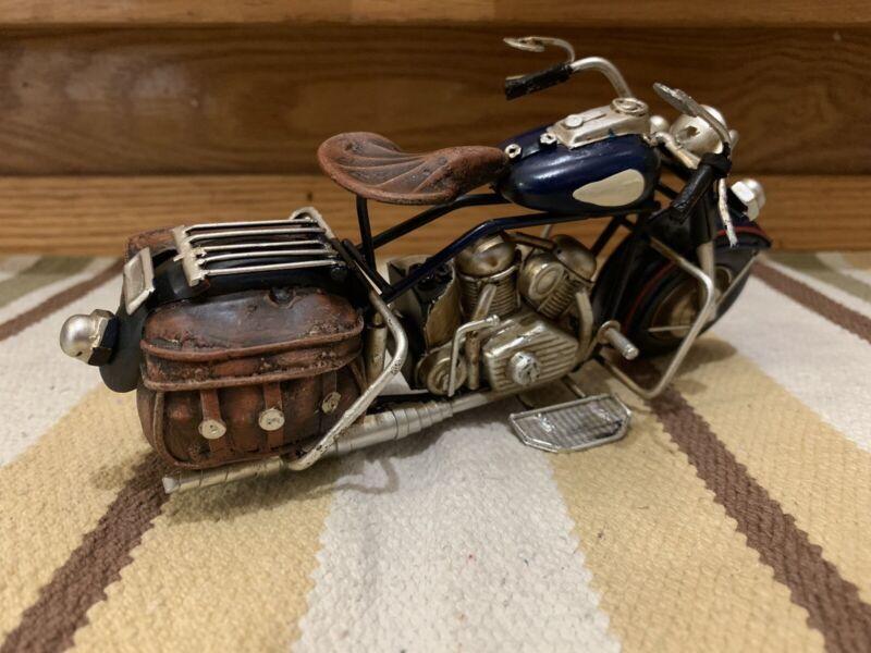 Motorcycle Scrap Metal Handcrafted Bike Motor Gas Oil Harley Model Toy Knuckle A