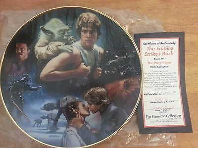 STAR WARS EMPIRE STRIKES BACK HAMILTON PLATE 1993