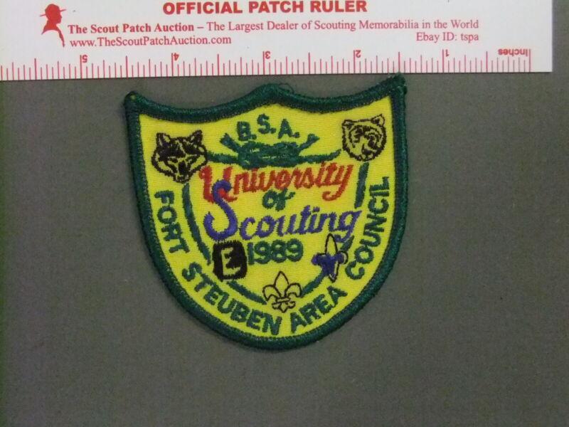 Boy Scout Fort Steuben Area Council University of Scouting 9666FF