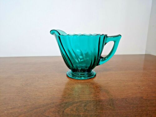 JEANNETTE PETAL SWIRL ULTRAMARINE CREAMER PITCHER- BEAUTIFUL