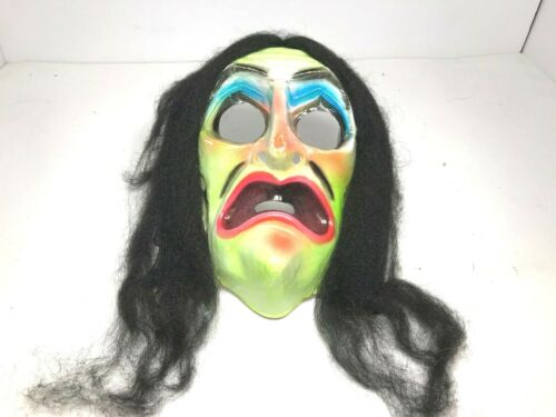 Ben Cooper Hairy Scary Vintage Plastic Witch Mask