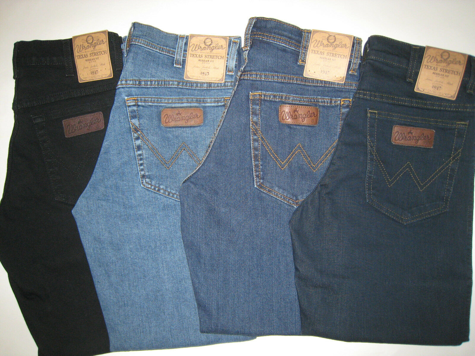 WRANGLER Jeans Texas -Stretch 30 31 32 33 34 35 36 38 40 42 44 46 48 in 4 Längen