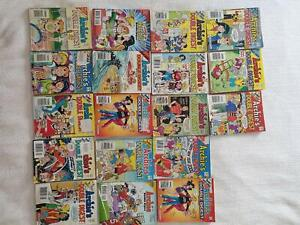 18  ARCHIE DOUBLE DIGEST COMIC  BOOKS WITH JUGHEAD, BETTY, VERONICA Panorama Mitcham Area Preview