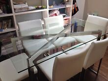 Glass top dining table and chairs Leichhardt Leichhardt Area Preview