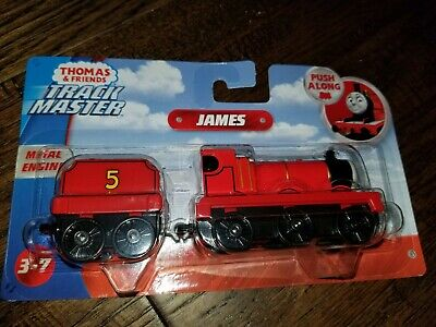 New Fisher-Price Thomas Train Friends Track Master Push Along James Metal Engine