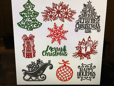 Sold Out Creative Memories Merry Little Christmas Laser Embellishments  -