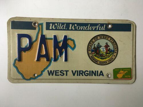 1978 1979 West Virginia Political Legislature License Plate Vanity PAM Senate