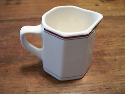 Antique White China CREAMER /Burgundy Stripes  MEDALLION STERLING CHINA RM 2-USA