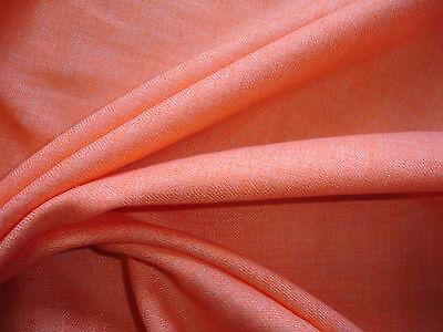 1 Lfm Leinenmischung  2,93€/m² orange meliert KA4