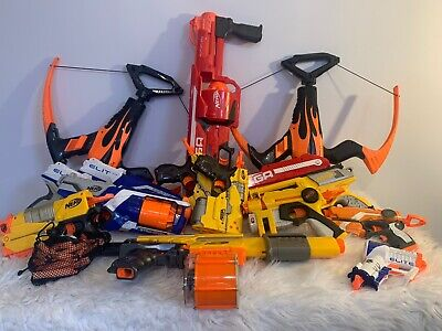 Nerf Brand Toy Gun Lot Of 15 Guns/Crossbows Nerf Wars