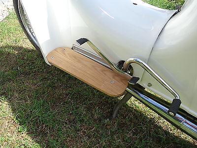 Design Echt-Holz Trittbretter für Simson Schwalbe KR51 & KR50, NEU