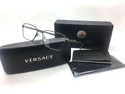Versace Women Brown Rectangular New Eyeglasses MOD 1227 1359 53 Metal