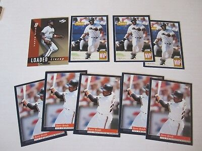 Lot Of 9 Barry Bonds Sf Giants 1994 Score Baseball Cards   Mint Condition