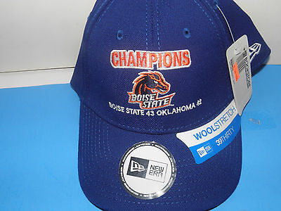 NCAA Boise State Broncos Tostitos Bowl Champs Wool Stretch Size Med-Lg Hat (NWT) Boise State Broncos Wool