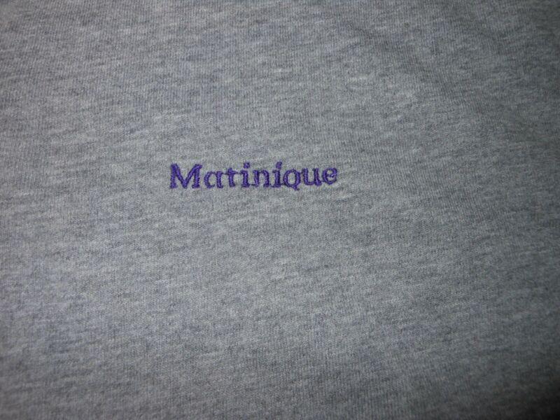 MATINIQUE GRAY LONG SLEEVES 1/4 BUTTON COTTON CASUAL TOP. MTU7026K