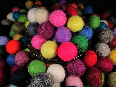 F74 Lot of 150 felt ball 2cm handmade DIY Multi Color Christmas supplies Nepal