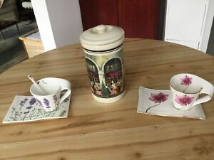 Cup and dish,  cookie jar