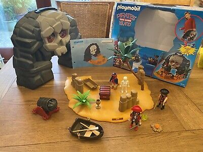 Playmobil Take Along Pirate Treasure Island (5804) With Box And Instructions