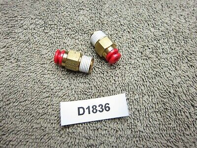 Smc 18 Tube Dia 18 Npt Male Str Ptc Fitting Lot Of 2 Inv D1836