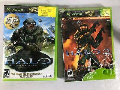 Halo 1 Combat Evolved and Halo 2 Original Xbox, Compatible For Xbox 360 Tested comprar usado  Enviando para Brazil