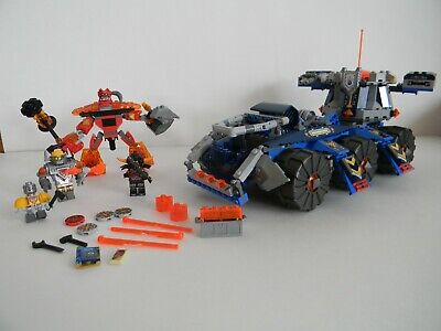 LEGO Set 70322 Nexo Knights Axle's Tower Carrier W/ Burnzie Retired Not Complete