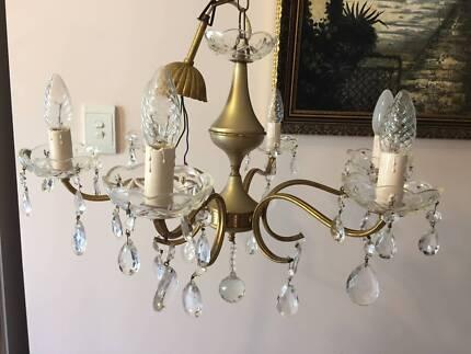 Swaroski crystal Chandelier   Ceiling Lights   Gumtree Australia ...