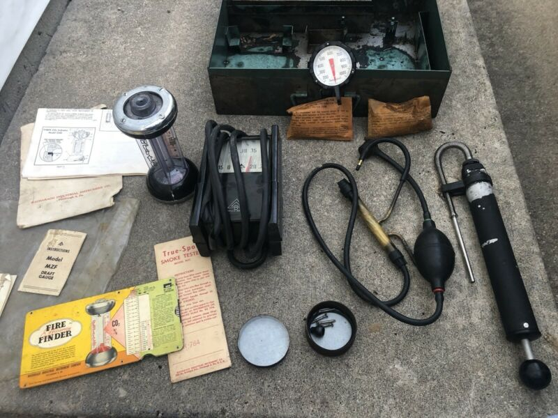 Bacharach Fyrite Gas Analyzer Combustion Test Canister Bad Hoses