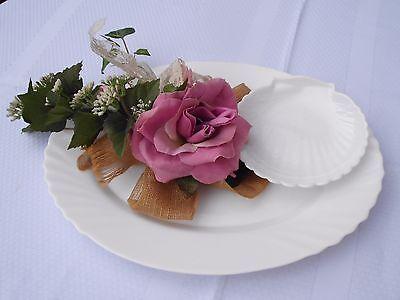 Servierplatte  HARMONIA Made in France  Porzellan Platte Weiß Ovale