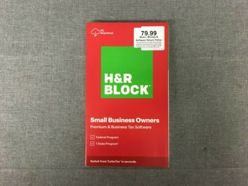 H&R BLOCK 2020 SMALL BUSINESS OWNERS PREMIUM & BUSINESS TAX SOFTWARE-