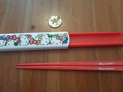 Japan Hello Kitty Plastic Chopsticks & Slide Case
