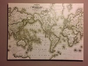 Large - Map of the World Canvas Picture