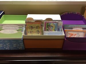 3 boxes of greeting cards