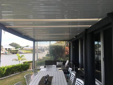 awning stratco large with good quality drop down clears