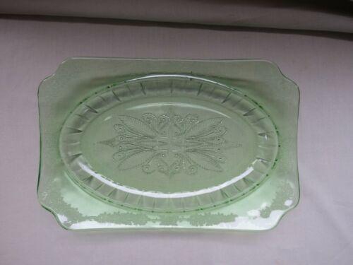 Jeannette Green Adam Oval Platter / Vegetable Bowl