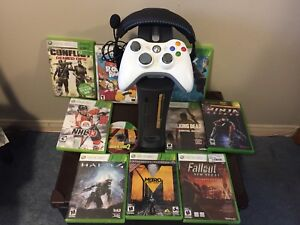 XBOX 360 Includes 10 Games, Turtle Beaches Headset, Controller
