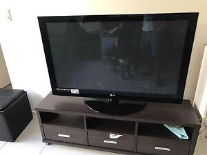 LG 50 inch plasma TV + Entertainment Unit Fitzgibbon Brisbane North East Preview