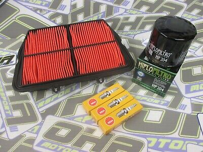 OIL FILTER AIR FILTER  SPARK PLUGS SERVICE KIT FOR TRIUMPH TIGER 800