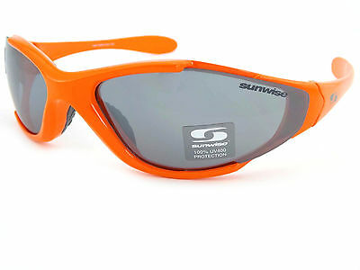 Sunwise Depredador SPORTS Gafas de Sol Brillante Naranja / Gris Plata Espejo