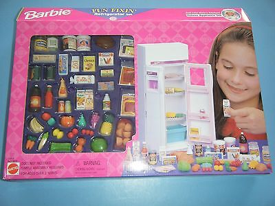 BARBIE FUN FIXIN REFRIGERATOR SET *NEW*