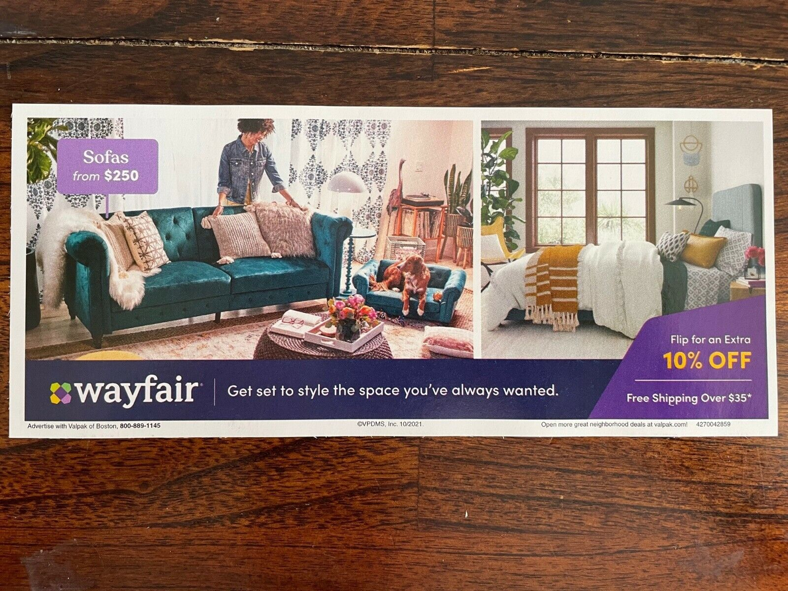 Wayfair 10 Off Coupon For First Time Shopper, Exp 12/14/21  - $3.50