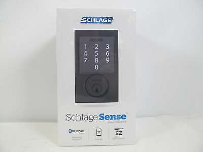 Schlage Sense Smart Deadbolt with Century Trim Matte Black ,