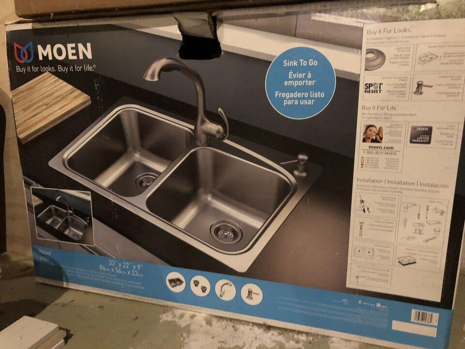 Kitchen sink and faucet. Brand new | Plumbing, Sinks, Toilets ...