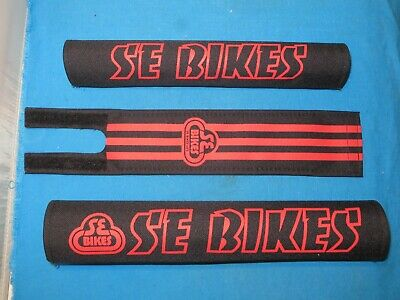SE Bikes BMX Bicycle 3 PC Pad Set Black and Red - New ()
