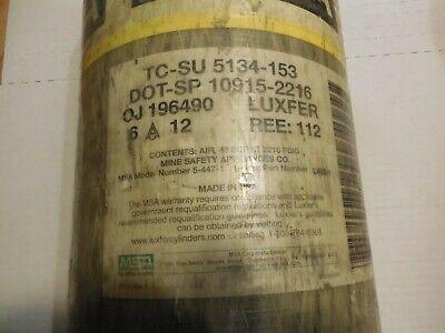 Msa 2216 Psi Luxfer 30 Min Minute Scba Air Pak Bottle Tank 2012 Tested 2017