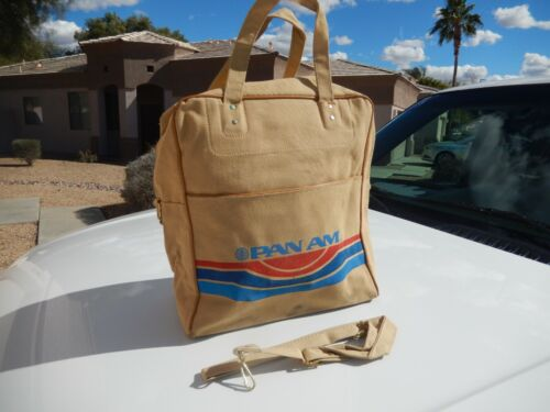 Vintage PAN AM Airlines Canvas Bag Luggage Travel 1960
