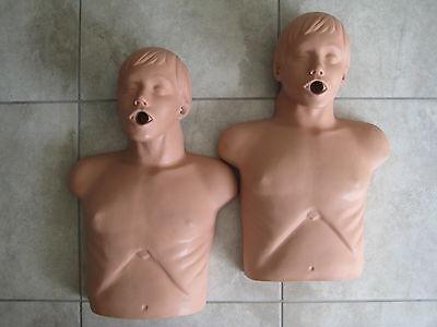 2 SIMULAIDS Economy Adult Male Sani-Manikin CPR Training Dummy USED Lot 2 Economy Adult Sani Manikin