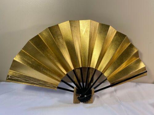 Japanese Odori Dance Sensu Folding Gold Made in Japan