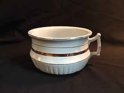 Vintage Royal Ironstone China Johnson Bros Brothers England White Chamber Pot