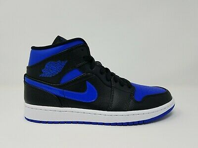 Jordan 1 Mid Black Royal Blue 554724-068 Men Sz 7.5-11 Nike Air Retro Basketball