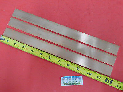 3 Pieces 18 X 1 C110 Copper Bar 12 Long Solid Flat Mill Bus Bar Stock H02